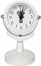 SRQOESFF Alarm Clock 2inch Small Round Silent