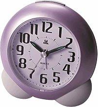 SRQOESFF Alarm Clock Cartoon Bedside Silent Analog