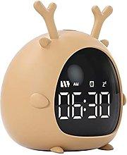 SRQOESFF Alarm Clock Cartoon Mini USB Rechargeable