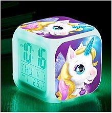 SRQOESFF Alarm Clock Unicorn Alarm Clock LED