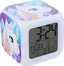 SRQOESFF Alarm Clock Unicorn Digital Alarm Clock