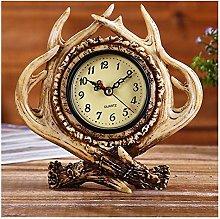 SRQOESFF Alarm Clock Vintage Resin Antler Alarm