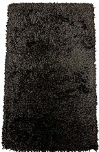 SrS Rugs®Black Shaggy Rug with 50mm Deep Soft