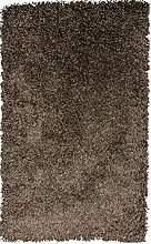 SrS Rugs® Chocolate Brown Shaggy Rug with 50mm