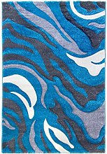 SrS Rugs® Primo Grey Rug for Bedroom, Abstract