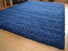 SrS Rugs® Soft Touch Collection, Navy Blue Shaggy