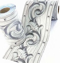 Ssamall Silver Flower Pattern Peel and Stick