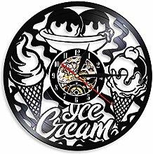 SSCLOCK Ice cream shop commercial logo wall clock