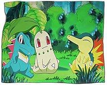 SSKJTC Boys Throw Blanket Pokemon cartoon green