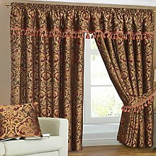 SSP CURTAIN PAIRS HEAVY JACQUARD CHENILLE PENCIL