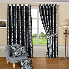 SSP Jacquard Pair Curtain Fully Lined Ring Top