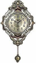 Ssrsgyp Wall Clock European Style Retro Pendulum