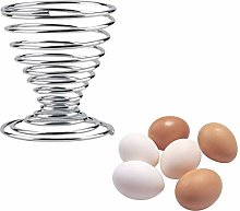 St@llion 2Pcs Metal Spiral Spring Wire Tray Egg