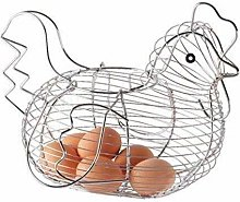 St@llion Chrome-A Plated Chicken Shaped Wire Egg