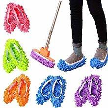 St@llion Random Color 5 Pairs Floor Mop Slippers,