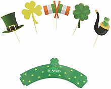St. Patrick S Day Cupcake Topper,Pack of 20 Green