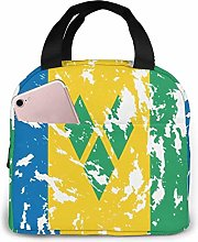 St Vincent and The Grenadines Flag Insulated Lunch