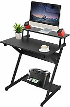 Stable Computer Desk Z-Shaped PC Table with
