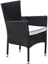 Stackable Rattan Garden Chair in Black & White