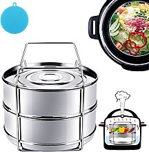 Stackable Stainless Steel Food Steamer Insert Pans