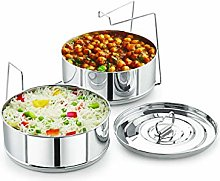 Stackable Stainless Steel Insert Pans - 6QT-