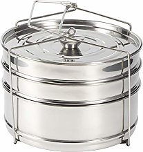 Stackable Steamer Insert Pans, 3 Tier Stainless