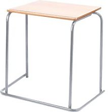 Stacking Exam Desk, Beech, Free Standard Delivery