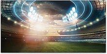 Stadium Lights Flashes Football Field Fluorescent