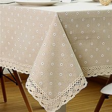 Stafeny Table Cloth Cotton Linen Wrinkle Free,