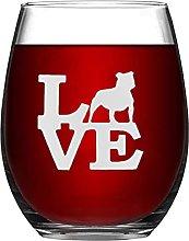Staffordshire Bull Terrier Love Crystal Stemless
