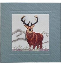 Stag Card Cross Stitch Kit By Textile Heritage MCSA