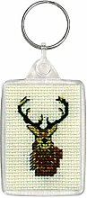 Stag Keyring - Counted Cross Stitch Kit by Textile