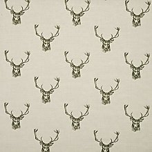 Stags Head Fryetts Country Deer Cotton Fabric