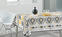 Stain-Resistant Patterned Tablecloth: 200cm x
