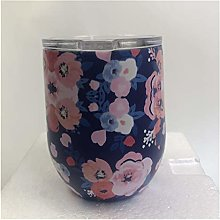 Stainless Floral Wine Tumbler Swig Insulated