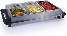 Stainless Steel 3 Pan Large Buffet Food Server