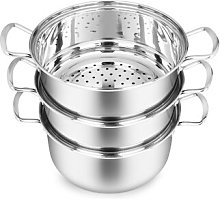 Stainless Steel 3 Tier 3 L Steamer with Lid Symple