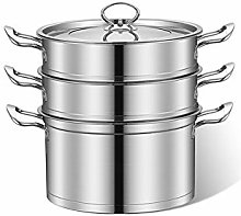 Stainless Steel 3-Tier Food Right Angle Steamer