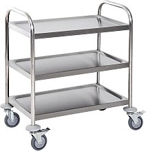 Stainless Steel 3 Tier Rolling Kitchen Service