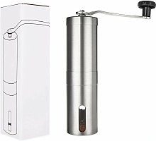 Stainless steel and ceramic manual coffee grinder