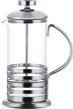 Stainless Steel and Glass French Press Coffee