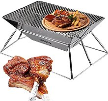 Stainless Steel Barbecue Grill, Portable Folding