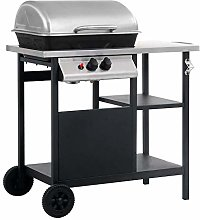 Stainless Steel Barbecue Grill with Stand, Compact
