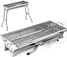 Stainless Steel BBQ Charcoal Grill, Portable