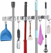 Stainless steel broom holder, control strip,