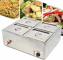 Stainless Steel Buffet Food Warmer 4 Pans Catering