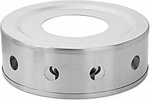 Stainless Steel Candle Base Teapot Warmer, Round