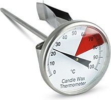 Stainless Steel Candle Wax Thermometer - 40mm dial