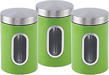 Stainless steel Canister set 3 pcs with Window in