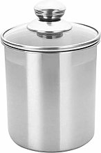 Stainless Steel Canister Set with Glass Lid Tea